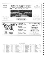Saratoga Township Owners Directory, Ad - Ginny's Supper Club, Security State Bank, Winona County 2004